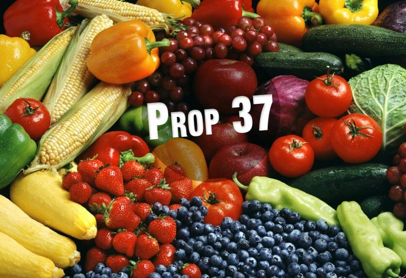 Prop 37 with food