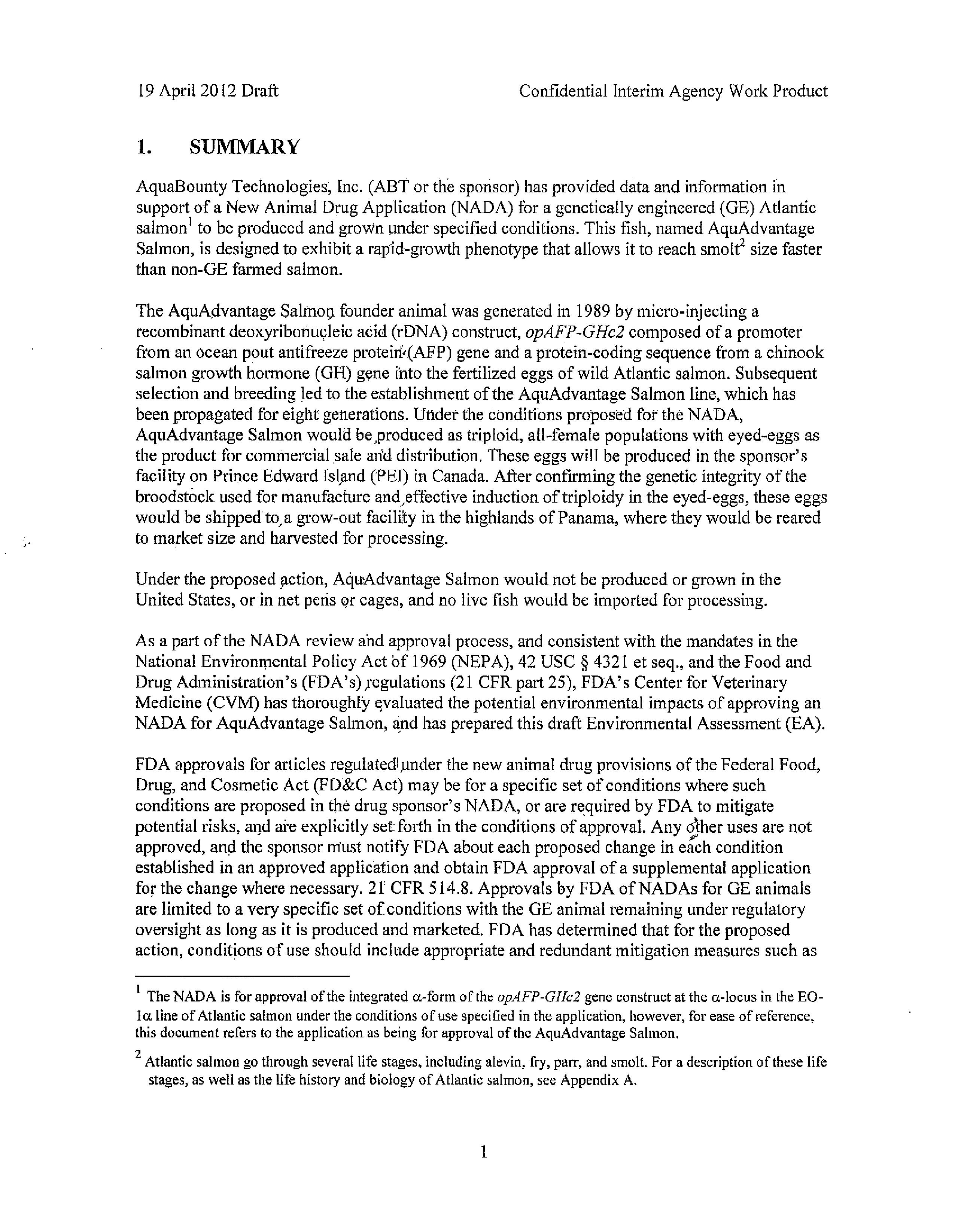 AquaBounty Draft Environmental Review001