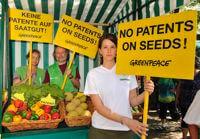 GMO patent protest