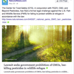 Center for Food Safety: Then let's see if Center for Food Safety is linked to Natural News and it sure is.  Mike Adams loves their anti-pesticide messages that he adds to his pages too!