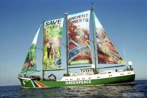 Greenpeace's original 'protest ship', the Rainbow Warrior