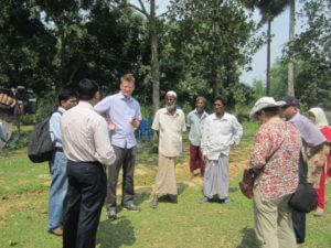 Mark Lynas meeting with local farmers.
