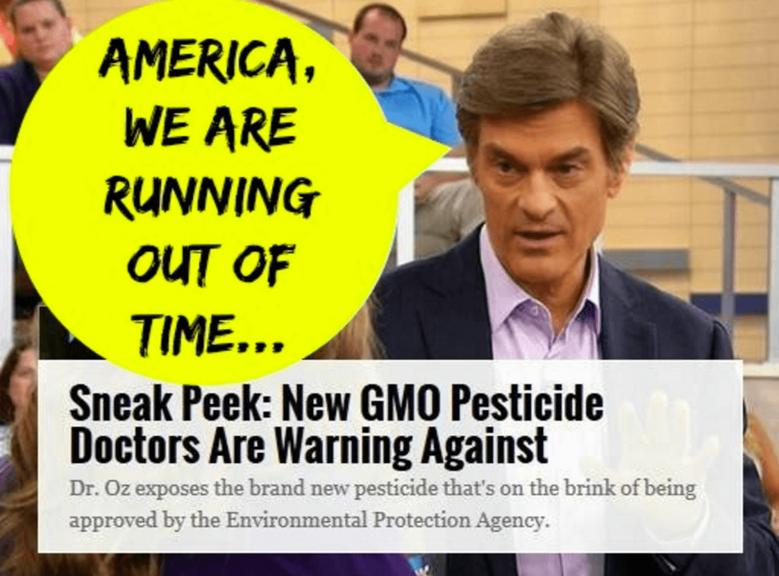 Dr. Oz has been one source of this myth