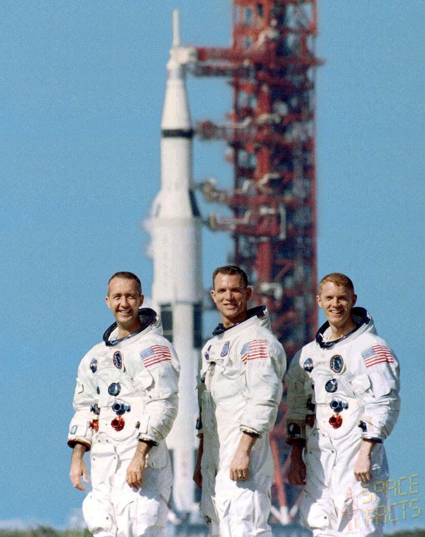 Apollo 9 Astronauts, Left-to-Right: James McDivitt, David Scott and Russell Schweickart,