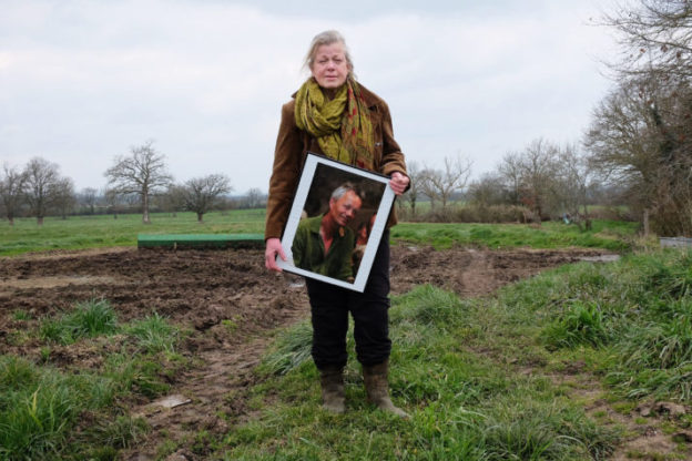 March 16, 2016, Sauvagny, Allier, France. Wilma Van Der Ploeg lost her husband from a hart attack while he was working in the field. He worked himself to death.